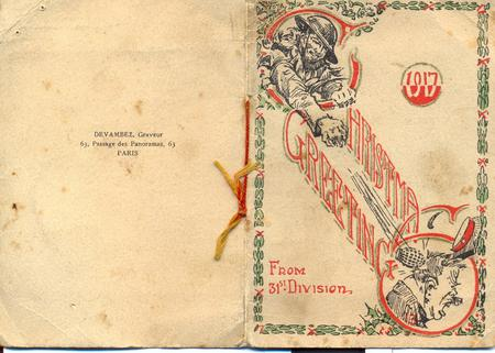 Christmas card from the front 1917