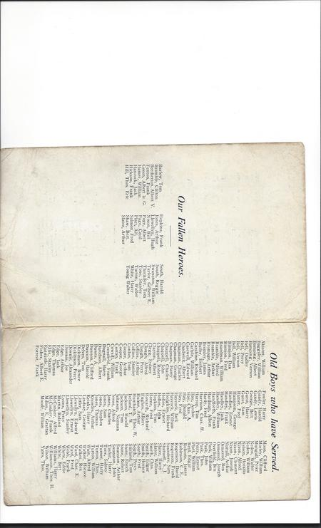 Names of fallen and returned serrvicemen.