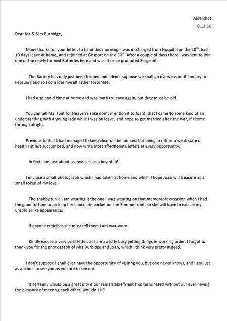 Edwin's 5th letter 6 November 1916 - Part 1