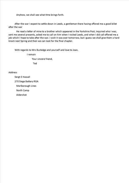 Edwin's 5th letter 6 November 1916 - Part 2