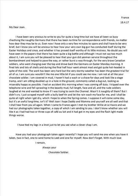 Edwin's 7th letter 18 April 1917
