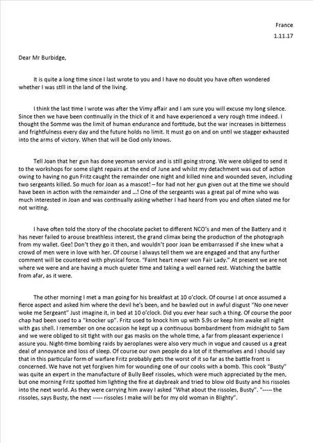 Edwin's 8th letter 1 November 1917 - Part 1