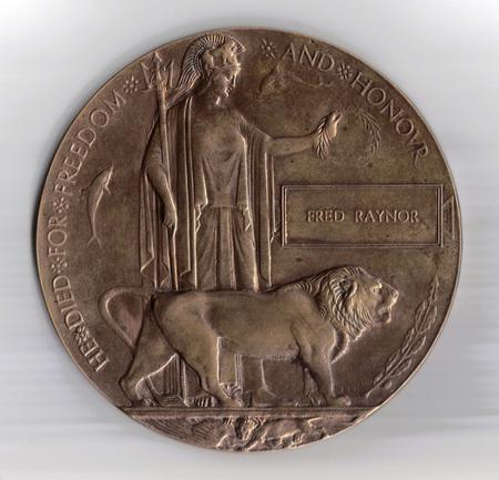 Fred Raynor s Bronze Memorial Plaque