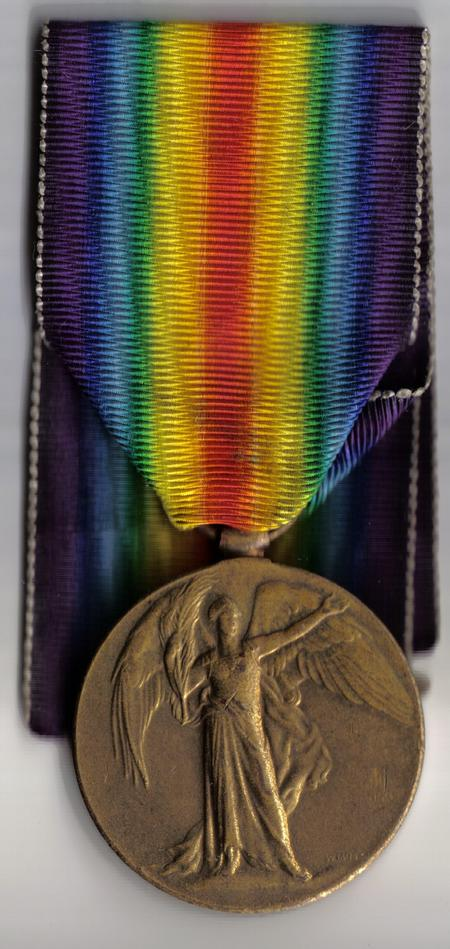 Fred Raynor s Victory Medal.