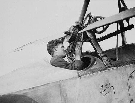 "William ""Billy"" Bishop in a Nieuport Aircraft, Eng"