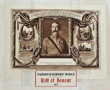 Roll of Honour parish of Kirkby Wiske (Maunby)