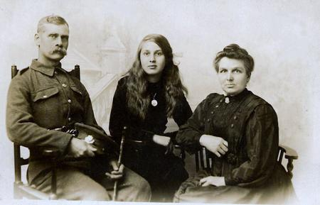 James Winterbottom, wife and daughter
