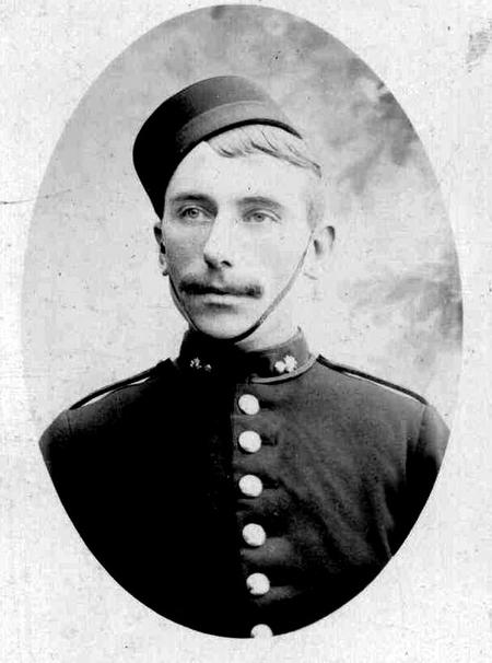 Sgt Sam Jones as a young Bombardier in 1897