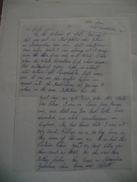 Letter explaning 3 soldiers photo