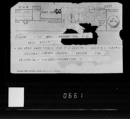 Army Service Record