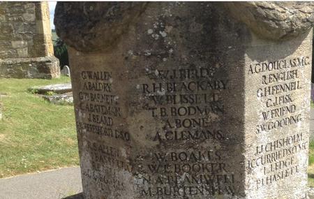 Memorial in St. Mary's Churchyard, Westerham