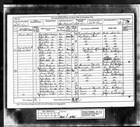 CWTilly 1881 census