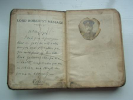 Front of Tom Holmes' war bible