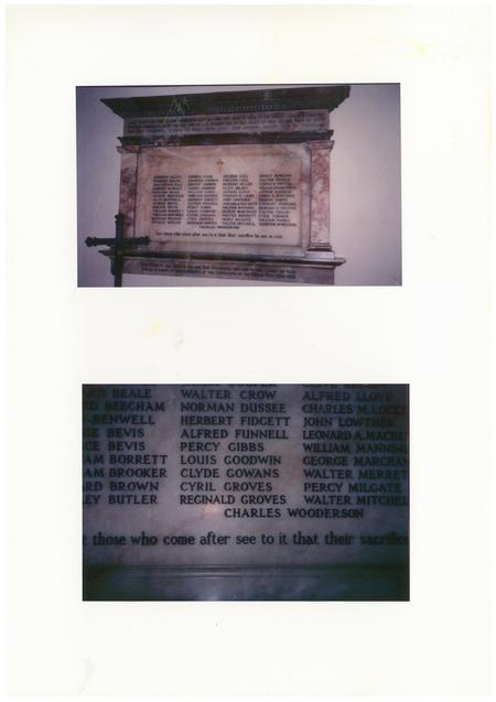 Local Church Memorial