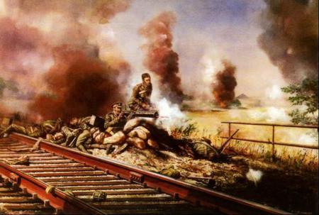 The action at Nimy railway bridge