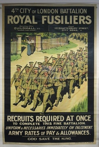 Royal Fusiliers Recruitment Poster