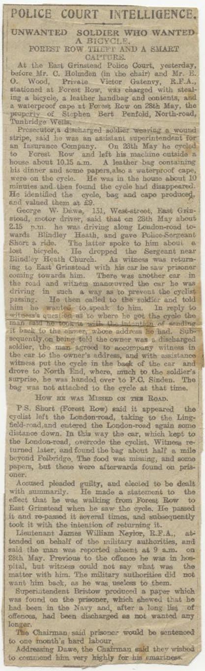 Unwanted Soldier Who Wanted A Bicycle