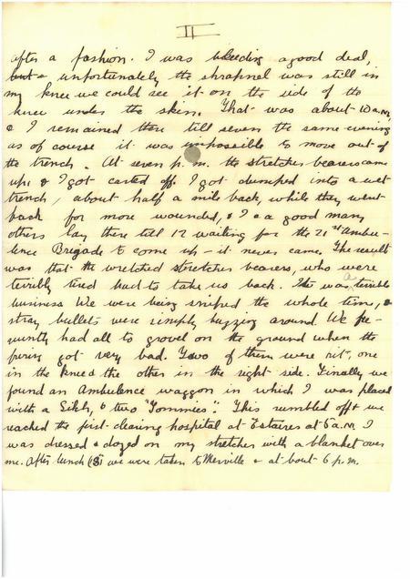 Neuve Chapelle Letter Page 2