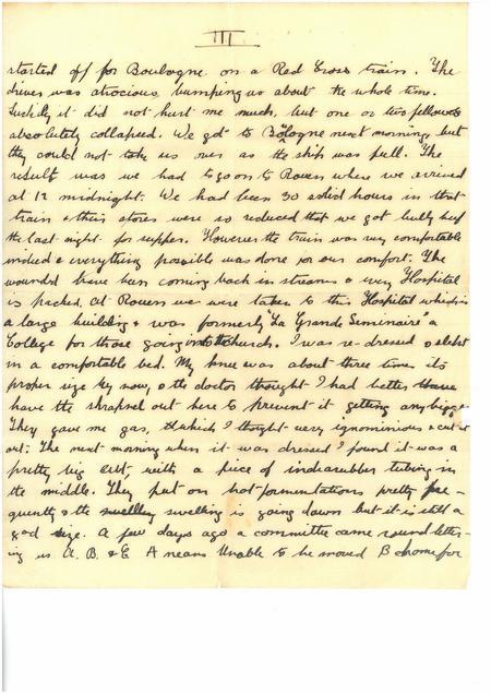 Neuve Chapelle Letter Page 3