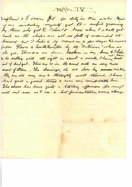 Neuve Chapelle Letter Page 4