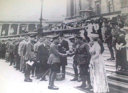 Captain Robert Phillips receiving Victoria Cross
