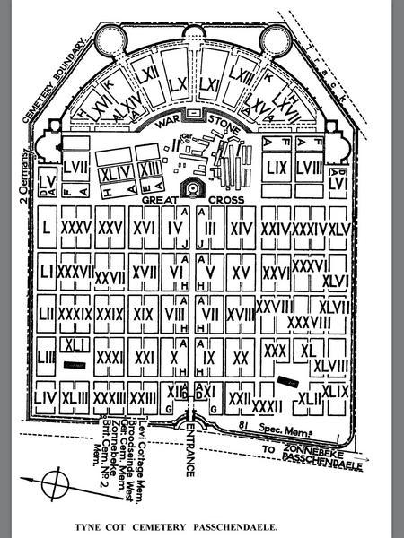 Tyne Cot Cemetery Plan.