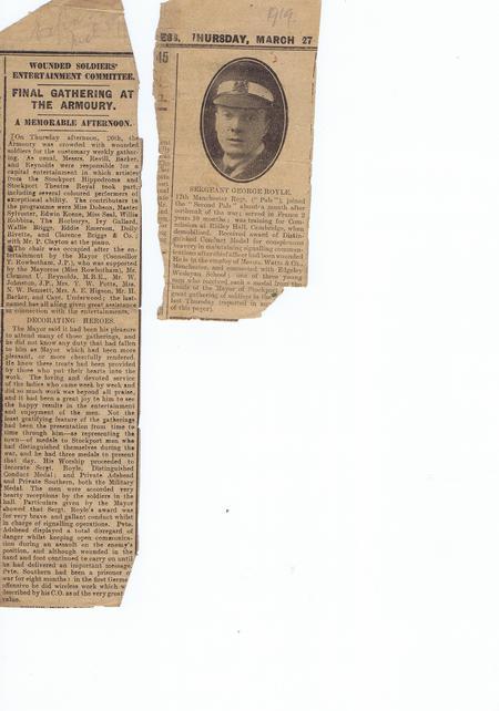 Two Newspaper Cuttings