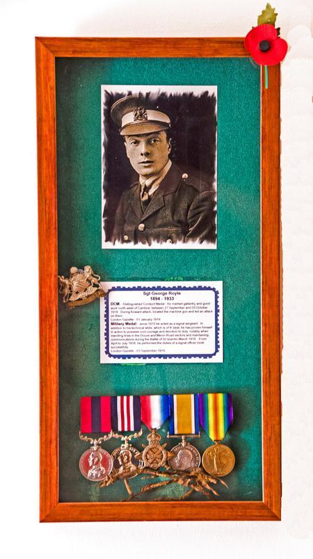 Medals in frame