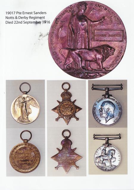 Ernest Sanders WWI Medals
