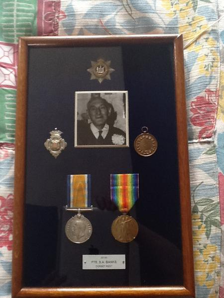 Jack Banks with medals