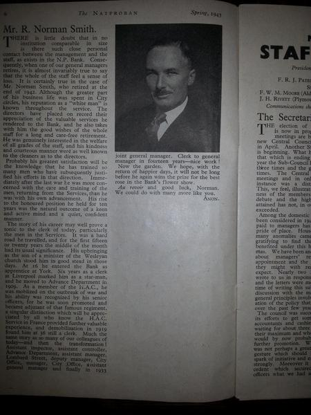 Article and photo of Robert Norman Smith