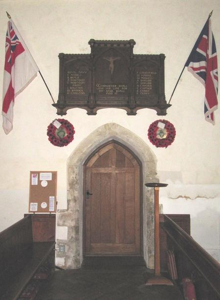 Memorial inside Birdham Church