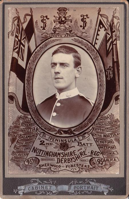 Cabinet Card showing George Bradley