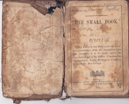 Inside cover page of Soldiers' Small Book