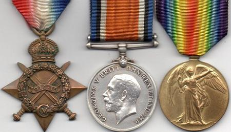 1914/15 Star, BWM and Victory Medal
