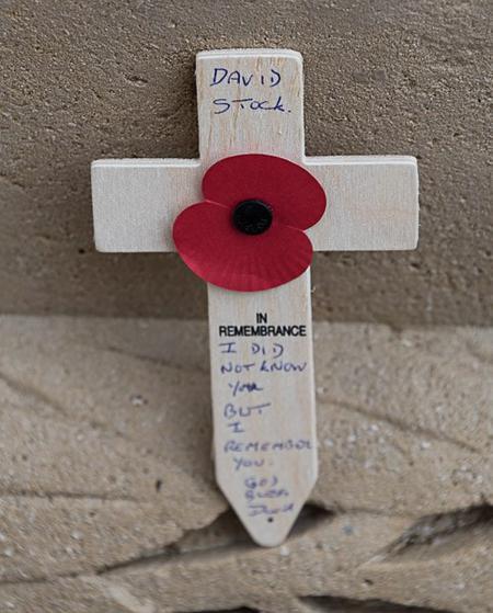 Remembering David at Thiepval