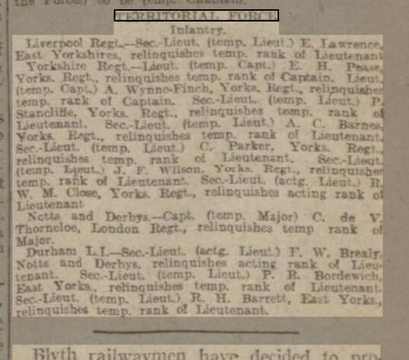 Article in Sheffield Daily Telegraph Aug 28 1917