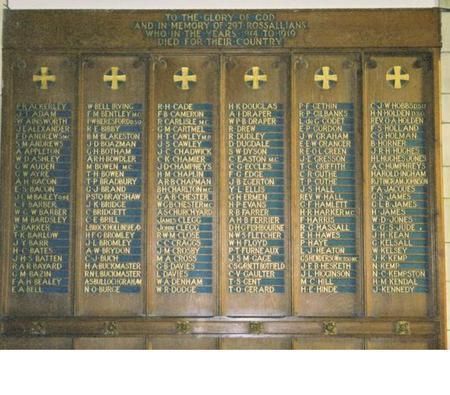 WW1 War Memorial Rossall School