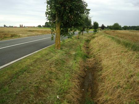 One of the ditches occupied by RIRgt at Le Pilly