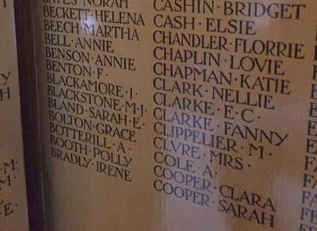"""Detail from """"Women of the Empire"""" Memorial"""