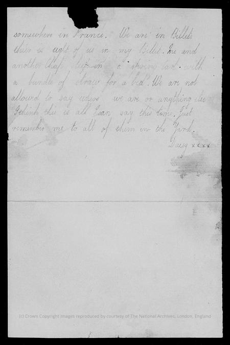 Letter from William Alfred Brown to his parents