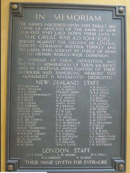 Alex worked for the Bank of New Zealand in Gore