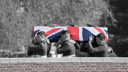 Burial Service at Irish Farm Cemetery, Ieper, 2018