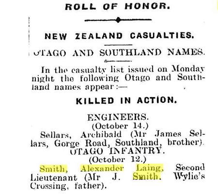Roll of Honour New Zealand