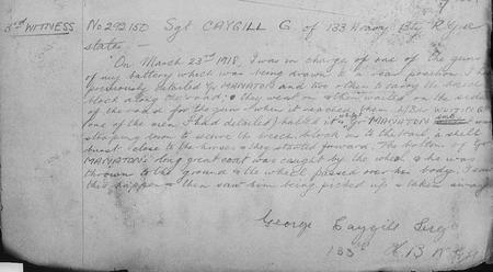 George Caygill's signature