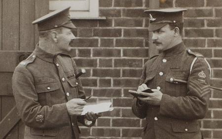 Pye and a colleague, circa 1916