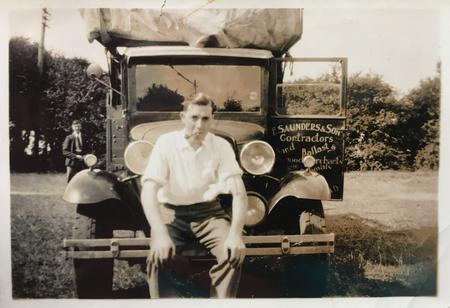 Alec with the Saunders & Son Lorry