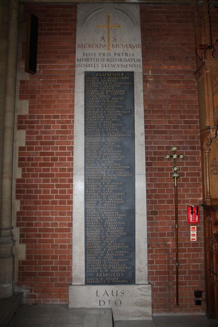 Selwyn College WW1 Memorial