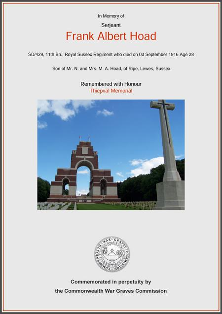 Remembered with Honour