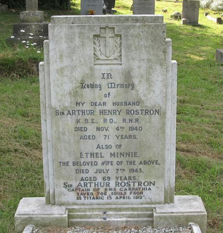 Profile picture for Arthur Henry Rostron,